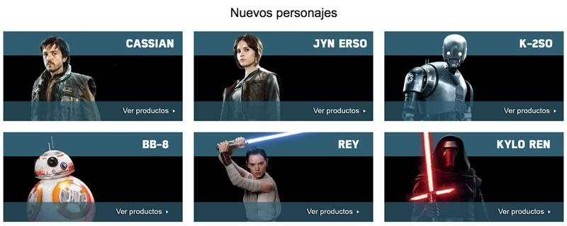 Amazon México rediseña su tienda de Star Wars por el estreno de Rogue One - nuevos-personajes-rogue-one-star-wars