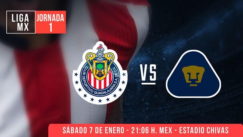 chivas vs pumas por claro video clausura 2017 Chivas vs Pumas, Jornada 1 del Clausura 2017 | Resultado: 2 1