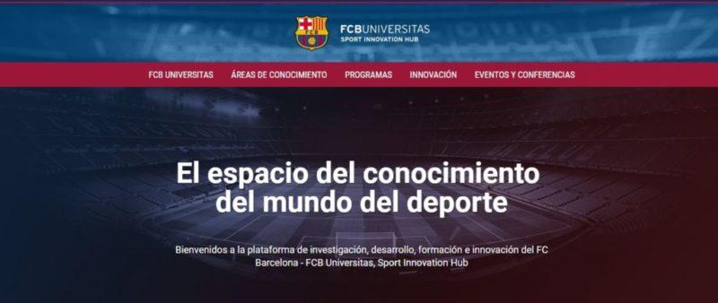 El FC Barcelona lanza plataforma de capacitación para profesionales deportivos - fcb-universitas-plataforma-home-800x338