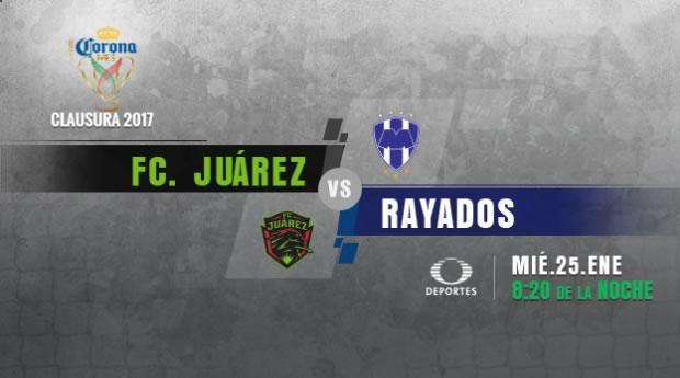 Juárez vs Monterrey, Jornada 2 de la Copa MX C2017 | Resultado: 0-1 - juarez-vs-monterrey-copa-mx-clausura-2017-en-vivo