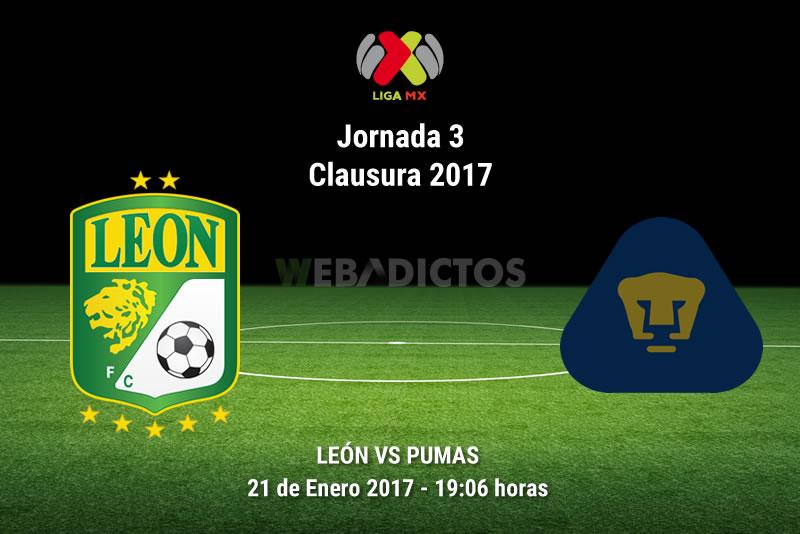 León vs Pumas, Jornada 3 Clausura 2017   Resultado: 0-1 - leon-vs-pumas-j3-clausura-2017