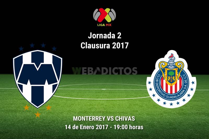 Monterrey vs Chivas, J2 del Clausura 2017 | Resultado: 2-2 - monterrey-vs-chivas-jornada-2-clausura-2017