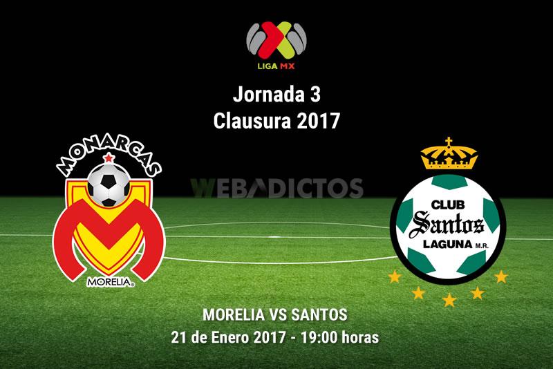 Monarcas Morelia vs Santos, J3 Clausura 2017    Resultado: 1-1 - morelia-vs-santos-j3-clausura-2017