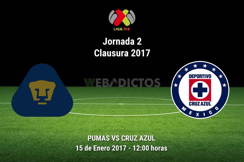 Pumas vs Cruz Azul, Jornada 2 Clausura 2017 | Resultado: 1-0 - pumas-vs-cruz-azul-j2-clausura-2017