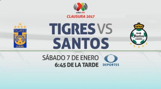 Tigres vs Santos, Jornada 1 del Clausura 2017   Resultado: 0-0 - tigres-vs-santos-clausura-2017-en-vivo