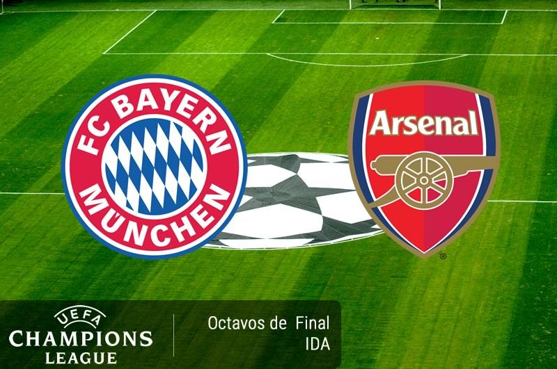 Bayern Munich vs Arsenal, Champions 2017   Resultado: 5-1 - bayern-munich-vs-arsenal-octavos-champions-2017