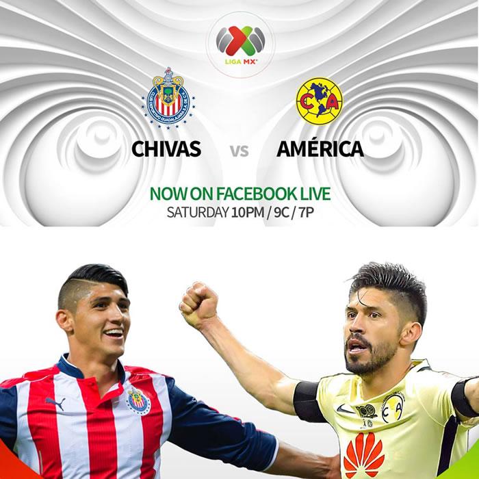 Chivas vs América, Clásico en el Clausura 2017   Resultado: 1-0 - chivas-vs-america-facebook-live-univision