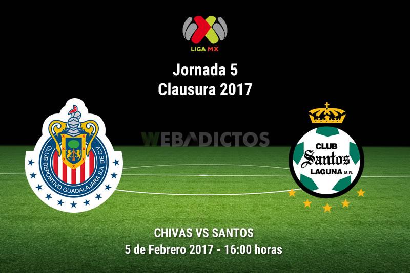 Chivas vs Santos, Jornada 5 Clausura 2017 | Resultado: 1-1 - chivas-vs-santos-j5-clausura-2017