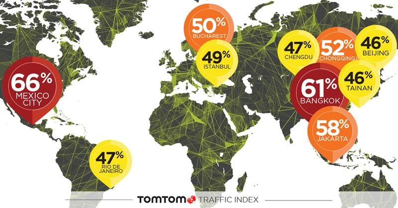 La Ciudad de México es la ciudad con más tráfico del mundo: TomTom Traffic Index 2017 - ciudad-con-mas-trafico-del-mundo