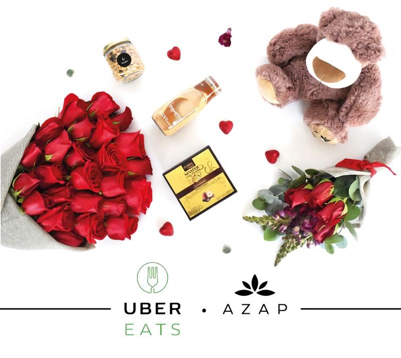 Envía flores y regalos con UberEATS en San Valentín - flores-en-linea-ubereats-azap