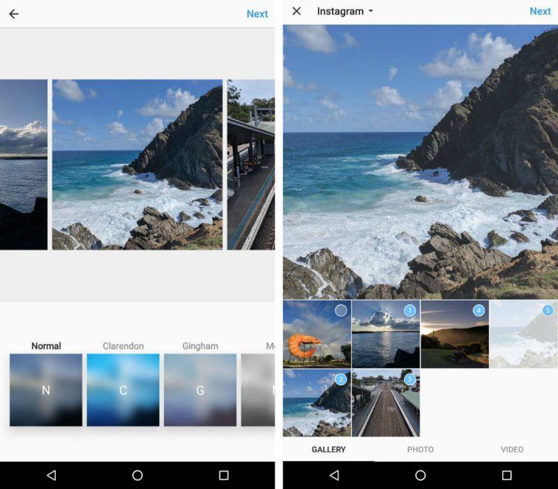 Instagram está probando la publicación de múltiples fotos - instagram-multifoto
