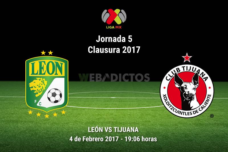 León vs Tijuana, Jornada 5 Clausura 2017   Resultado: 2-4 - leon-vs-tijuana-j5-clausura-2017