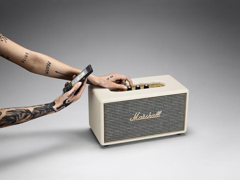 Marshall presenta Stanmore Bluetooth Speaker Cream - marshall-stanmore-bt
