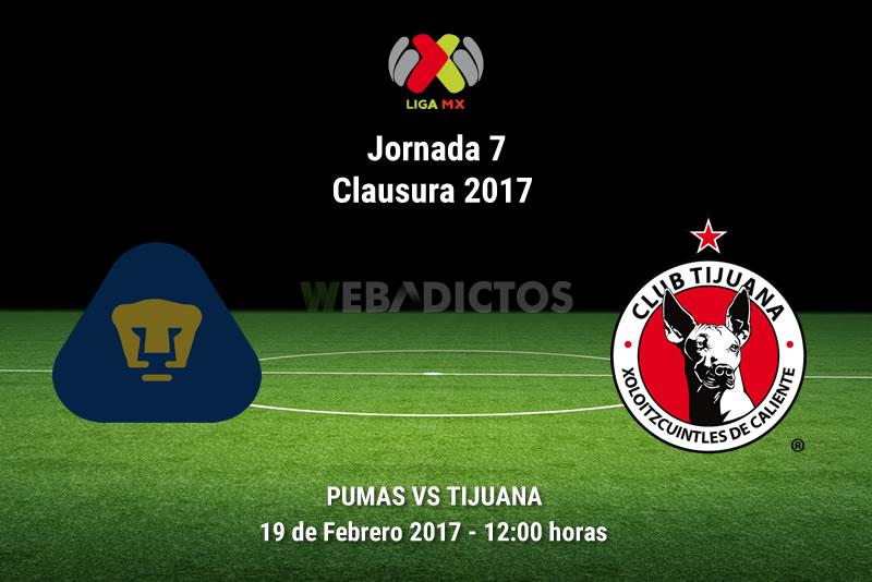 Pumas vs Tijuana, Jornada 7 Clausura 2017 | Resultado: 3-3 - pumas-vs-tijuana-j7-clausura-2017