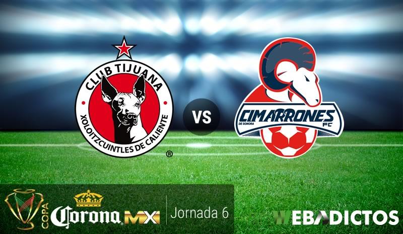 Tijuana vs Cimarrones, Jornada 6 Copa MX C2017   Resultado: 2-1 - xolos-tijuana-vs-cimarrones-j6-copa-mx-clausura-2017