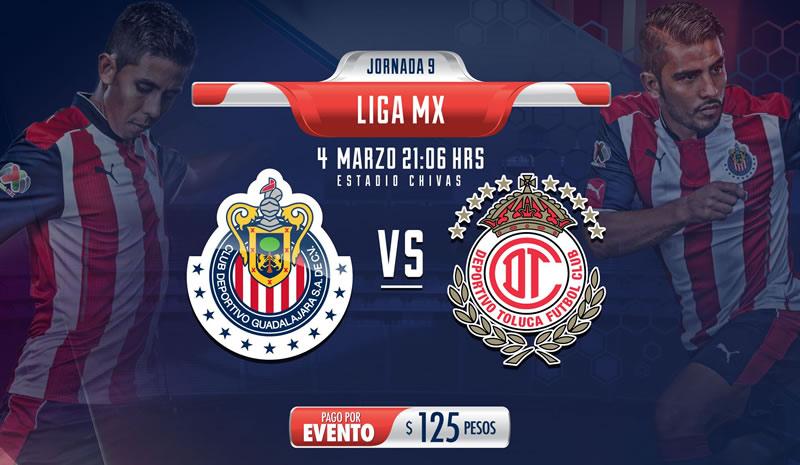 Horario Chivas vs Toluca y opciones para verlo; Jornada 9 Clausura 2017 - chivas-vs-toluca-clausura-2017-chivas-tv