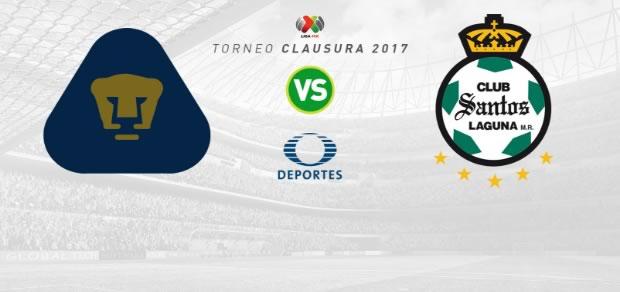 Pumas vs Santos, Jornada 9 del Clausura 2017 | Resultado: 2-1 - pumas-vs-santos-clausura-2017-en-vivo