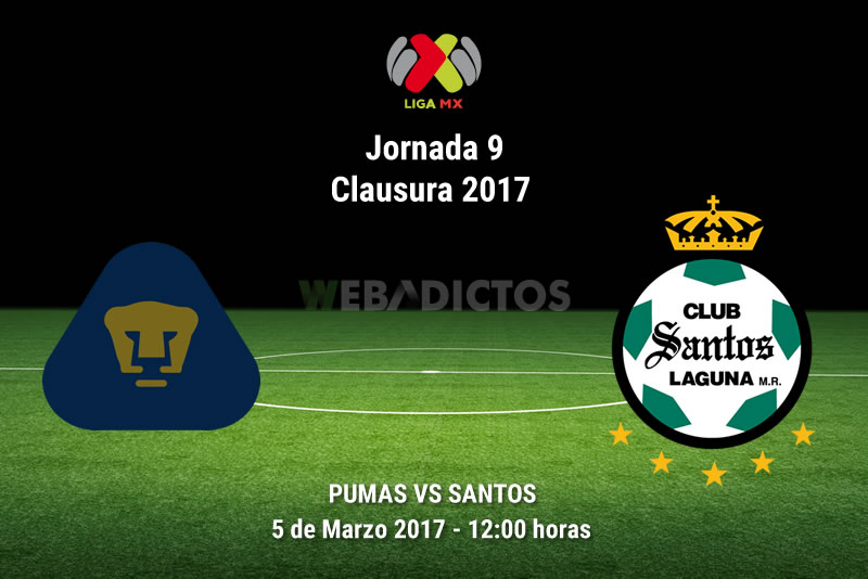 Pumas vs Santos, Jornada 9 del Clausura 2017 | Resultado: 2-1 - pumas-vs-santos-j9-clausura-2017