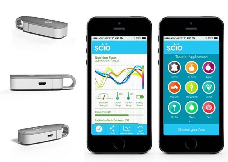 Desarrollan sensor que permitirá a teléfonos conocer la composición de las cosas - scio-sensor-2-800x571