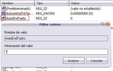 Finalizar Aplicaciones Con Errores Automaticamente Mientras Apagamos La Computadora - registro_windows3