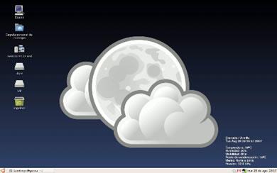 Weather WallPaper - Fondo De Pantalla Con El Clima Actual En Tu Escritorio De Linux - screenshot_weather_wallpaper