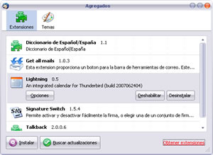 ThunderBird Excelente Alternativa a MS Outlook 2007 - plugins_thunderbird