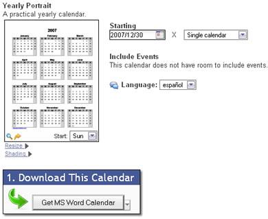 crear calendarios word Crear calendarios en línea gratis en estos sitios
