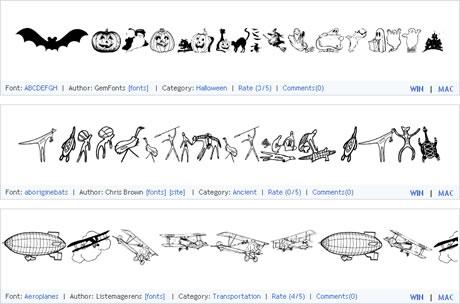 Fuentes y Simbolos Gratis en UrbanFonts - dingbats-gratis
