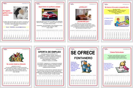 Crear Carteles Para Vender u Ofrecer algo - formatos-cartel