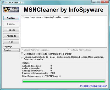 Eliminar Virus del Messenger - imgmsncleaner