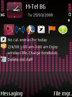 Temas para celulares con Symbian S60 gratis - pink-equalizer