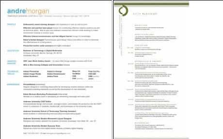ejemplos de resume en english template