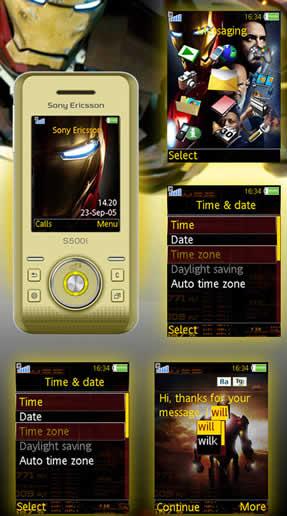 Temas Sony Ericsson – Iron Man - temas-sony-ericsson-ironman