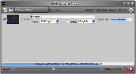 Convertir DVD a iPhone, PSP, Palm con DVD Catalyst - convertir-dvd