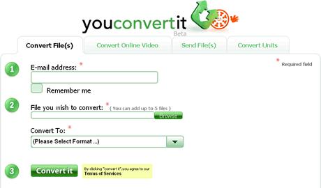 convertir video Convertir video y otros archivos en YouConvertit