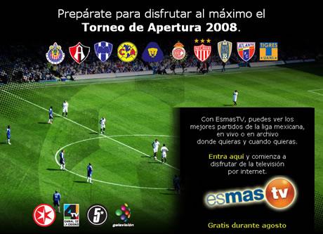 futbol mexicano Futbol mexicano en internet en Televisa