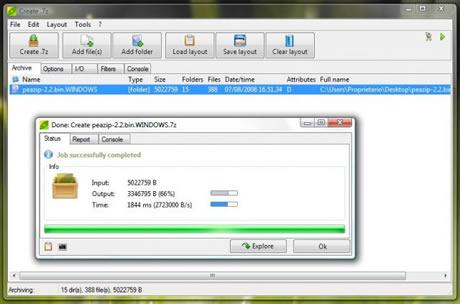 Descomprimir archivos con Peazip - comprimir-archivos