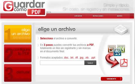 Convertir a PDF en GuardarComoPDF.com - convertir-a-pdf