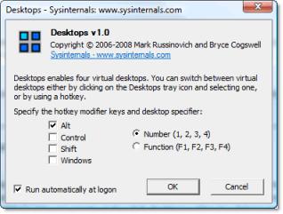 Escritorios virtuales en Windows con Desktops v1.0 - escritorios-virtuales