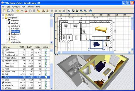 diseno de interiores Diseño de interiores con Sweet Home 3D