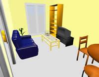 diseno interiores ejemplo Diseño de interiores con Sweet Home 3D