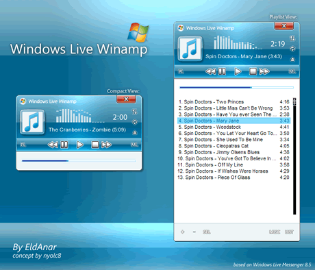 Skins winamp, Windows Live Winamp - skins-winamp
