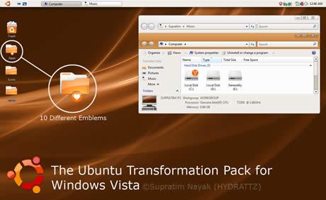 temas vista ubuntu transformation pack by hydrattz temas vista, ubuntu transformation pack