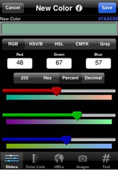 aplicaciones iphone palette Aplicaciones iphone para diseñadores