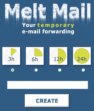 Cuentas de email temporales en Meltmail - correos-temporales