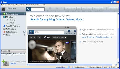 descargar peliculas musica Descargar musica y peliculas con Vuze