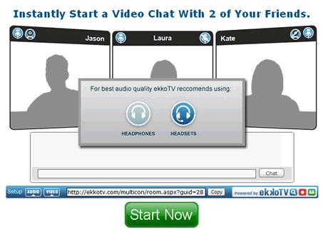 videoconferencia ekkotv Videoconferencia desde tu navegador web gratis