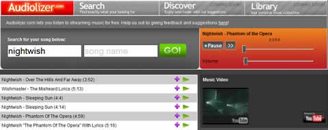 Escuchar musica online en Audiolizer - escuchar-musica-online