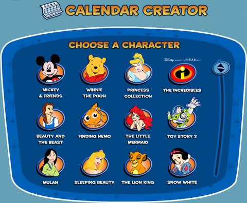 calendarios disney Calendarios para imprimir de Disney