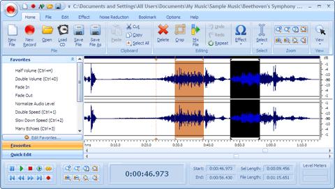 Editor de audio, Free Audio Editor 2009 - editor-de-audio-gratis
